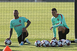 October 5, 2017 - Oeiras, Lisbon, Portugal - Portugal forward Ricardo Quaresma (L) and Portugal forward Cristiano Ronaldo (R) during National Team Training session before the match between Portugal and Andorra at City Football in Oeiras, Lisbon on October 5, 2017. (Credit Image: © Dpi/NurPhoto via ZUMA Press)