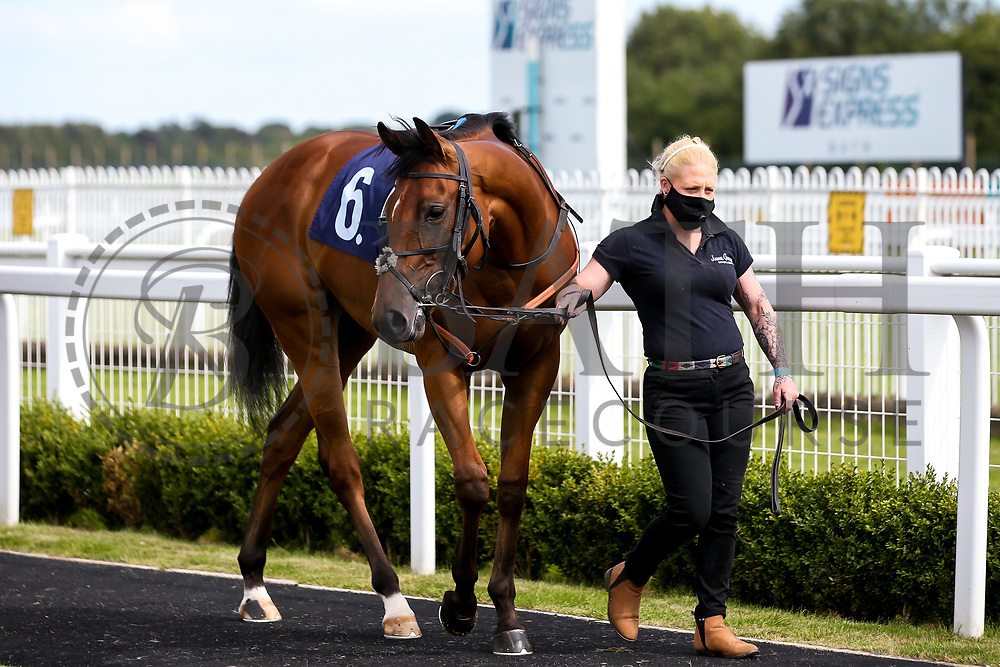 Dark Alibi ridden by Nicola Currie and trained by Jamie Osborne - Mandatory by-line: Robbie Stephenson/JMP - 18/07/2020 - HORSE RACING- Bath Racecourse - Bath, England - Bath Races 18/07/20