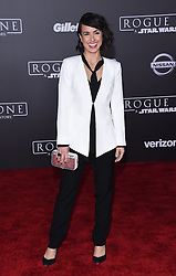 Celebrities walk the red carpet for the 'Rogue One: A Star Wars Story' world premiere held at the Pantages Theatre in Hollywood. 10 Dec 2016 Pictured: Constance Zimmer. Photo credit: American Foto Features / MEGA TheMegaAgency.com +1 888 505 6342