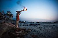 Panja Aarati at Ganga with Swami Ram Ganga Puri, Rishikesh