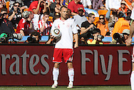 14 JUN 2010: Lars Jacobsen (DEN). The Netherlands National Team defeated the Denmark National Team 2-0 at Soccer City Stadium in Johannesburg, South Africa in a 2010 FIFA World Cup Group E match.