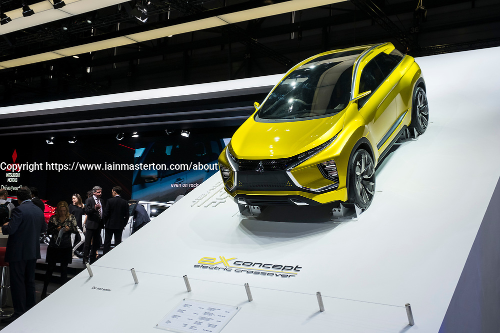 Mitsubishi EX electric crossover concept car at 87th Geneva International Motor Show in Geneva Switzerland 2017