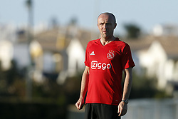 Assistant trainer Alfred Schreuder of Ajax during a training session of Ajax Amsterdam at the Cascada Resort on January 08, 2018 in Lagos, Portugal