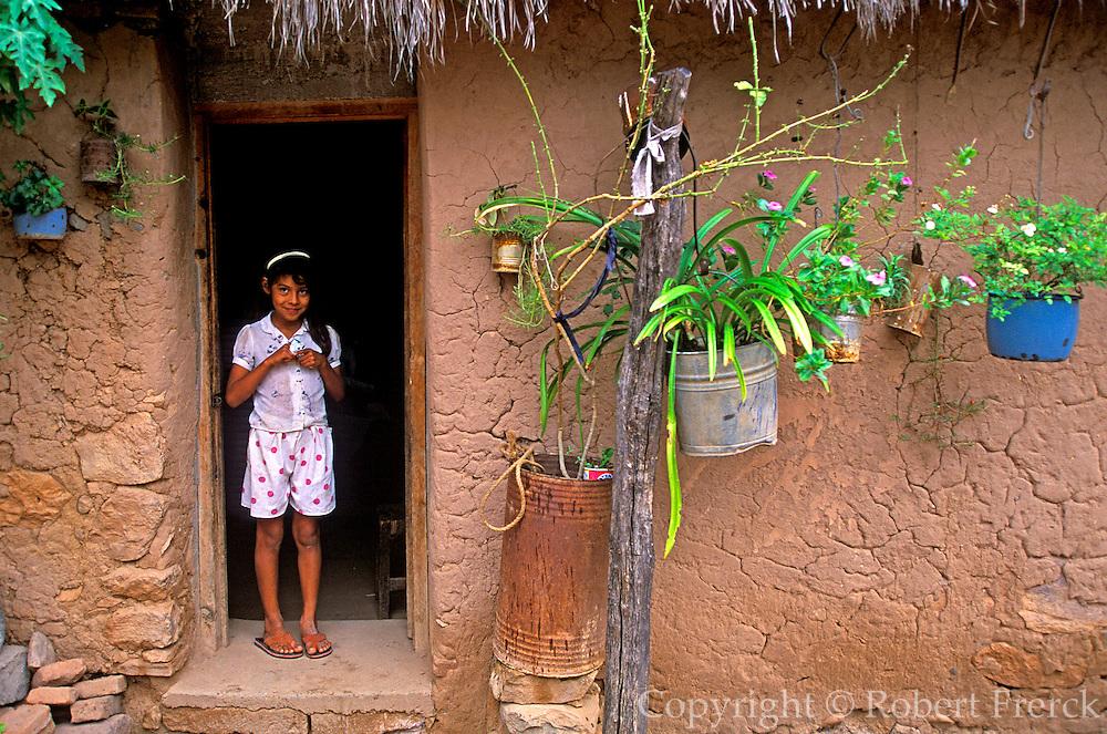 MEXICO, NORTH, CHIHUAHUA Copper Canyon, young girl at Batopilas