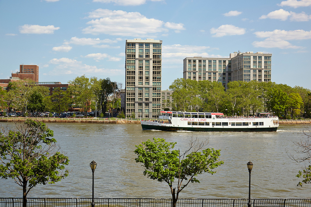 View of East River and Circle Line Boat from 25 East End Avenue, 1st floor