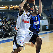 Fenerbahce Ulker's Tarence Anthony KINSEY (L) during their Turkish Basketball league match Fenerbahce Ulker between Turk Telekom at Sinan Erdem Arena in Istanbul, Turkey, Friday, January 14, 2011. Photo by TURKPIX