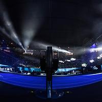 Light show on day nine of the 2018 Australian Open in Melbourne Australia on Tuesday January 23, 2018.<br /> (Ben Solomon/Tennis Australia)