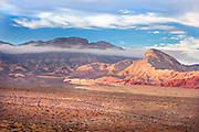 breaking storm over Red Rock Conservation Area, Nevada, USA