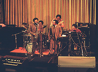 Cannonball Adderley with Nat Adderley and Quintet jam at the 1974 jazz cruise onboard the SS Rotterdam.