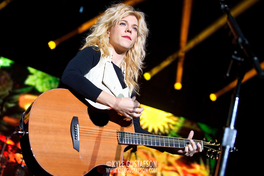 "COLUMBIA, MD - October 16th, 2011: Kimberly Perry of The Band Perry performs at the 2011 Sunday In The Country festival at Merriweather Post Pavilion in Columbia, MD. The band's single ""If I Die Young"" reached number one on the Billboard Hot Country Songs chart.  (Photo by Kyle Gustafson/For The Washington Post)"