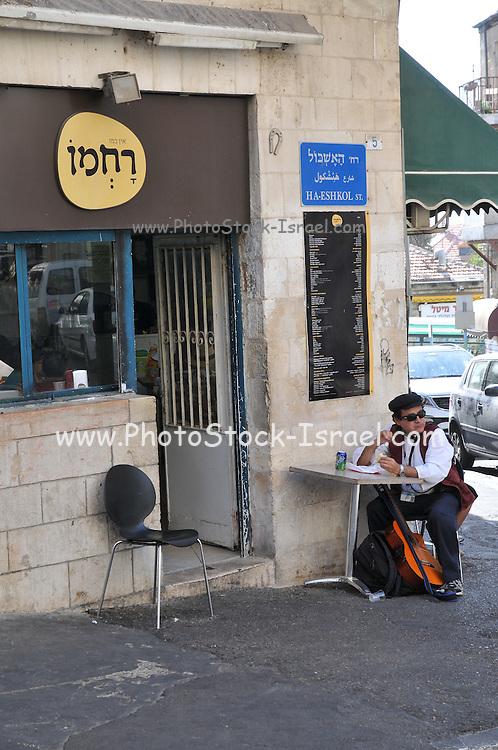 Israel, West Jerusalem, Rachmo Restaurant, Ha Eshkol Street Machane Yehuda neighbourhood