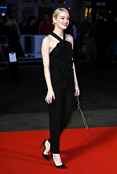 October 12, 2017 - London, England, United Kingdom - 10/12/17.Emma Stone at the premiere of ''Killing of a Sacred Deer'' in London, England. (Credit Image: © Starmax/Newscom via ZUMA Press)