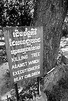 The Killing Tree at The Killing Fields Choeung Ek, 17 km South of Phnom Penh, Cambodia