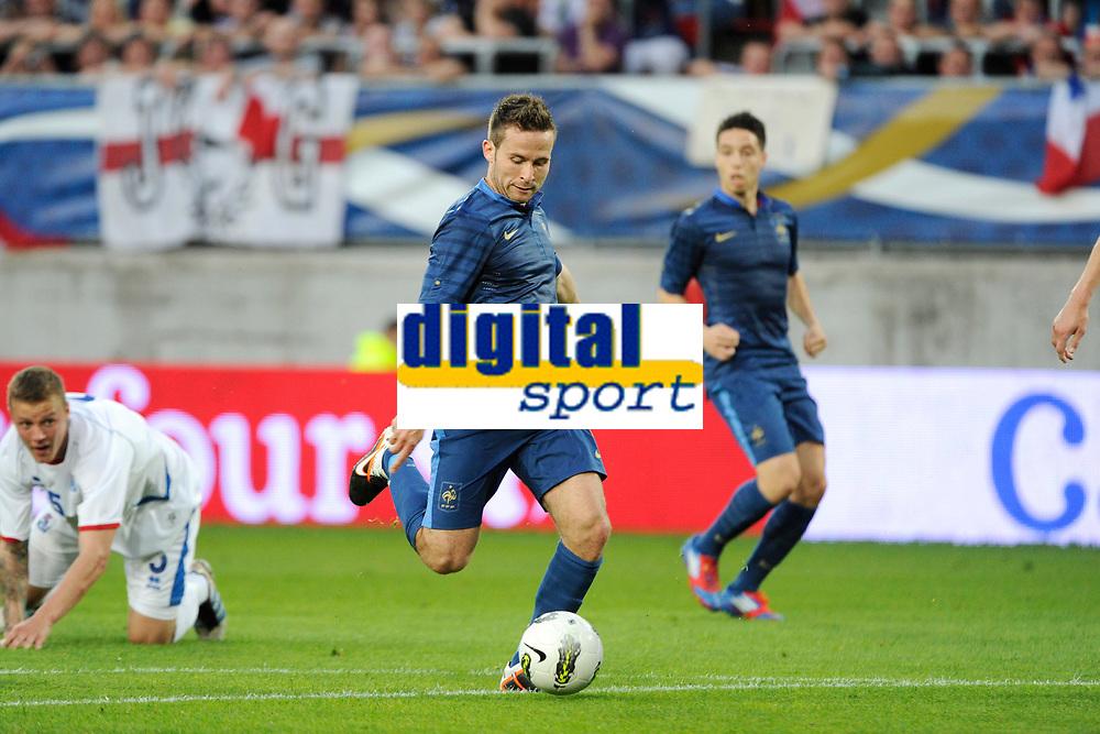 FOOTBALL - INTERNATIONAL FRIENDLY GAMES 2011/2012 - FRANCE v ICELAND - 27/05/2012 - PHOTO JEAN MARIE HERVIO / REGAMEDIA / DPPI - YOHAN CABAYE (FRA)
