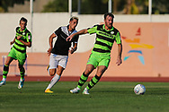 Forest Green Rovers Scott Laird(3) on the ball during the Pre-Season Friendly match between SC Farense and Forest Green Rovers at Estadio Municipal de Albufeira, Albufeira, Portugal on 25 July 2017. Photo by Shane Healey.