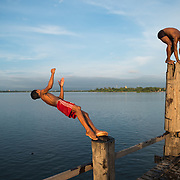 Stretching 3/4 of a mile across Taungthaman Lake next to the old capital of Amarapura (now part of Mandalay), the U Bein Bridge dates back to 1850 and is reputed to be the longest teak bridge in the world.