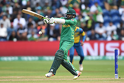 Pakistan's Azhar Ali hits out during the ICC Champions Trophy, Group B match at Cardiff Wales Stadium.