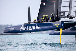Artemis Racing training on T2 in Bermuda. 19th of March, 2016, Morgan's Point, Bermuda
