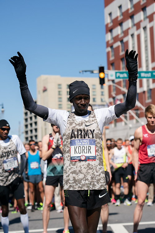 Leonard Korir prior to the 2020 U.S. Olympic marathon trials in Atlanta on Saturday, Feb. 20, 2020. Photo by Kevin D. Liles for The New York Times