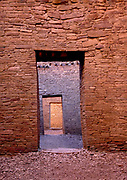 Ancient doorways, Casa Bonita, Chaco Culture National Historical Park, New Mexico
