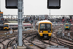 © Licensed to London News Pictures. 02/01/2018. London, UK. Trains arrive and depart at London Bridge Station. Rail fares have increased by an average of 3.4%, the biggest rise in five years. Photo credit: Rob Pinney/LNP