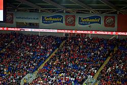 CARDIFF, WALES - Friday, September 6, 2019: MG Motors Wales & Nathaniel Cars branding during the UEFA Euro 2020 Qualifying Group E match between Wales and Azerbaijan at the Cardiff City Stadium. (Pic by Paul Greenwood/Propaganda)