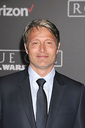 December 10, 2016 - Los Angeles, CA, United States of America - Mads Mikkelsen arriving at the Star Wars ''Rogue One'' World Premiere at the Pantages Theater on December 10 2016 in Hollywood, CA  (Credit Image: © Famous/Ace Pictures via ZUMA Press)