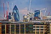 Londyn, 2009-03-05. Panorama miasta, na dugim planie City of London