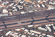 Aerial view of an airport in Phoenix, Arizona.