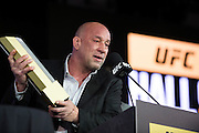 LAS VEGAS, NV - JULY 10:  Mark Coleman speaks as he is inducted into the UFC Hall of Fame at the Las Vegas Convention Center on July 10, 2016 in Las Vegas, Nevada. (Photo by Cooper Neill/Zuffa LLC/Zuffa LLC via Getty Images) *** Local Caption *** Mark Coleman