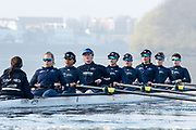 Putney, London,  Tideway Week, Championship Course. River Thames, <br /> <br /> Tuesday  28/03/2017<br /> [Mandatory Credit; Credit: Peter Spurrier/Intersport Images.com ]<br />  <br /> <br /> Bow: Flo Pickles, 2: Alice Roberts, 3: Rebecca Esselstein – USA. 4: Rebecca Te Water Naude, 5: Harriet Austin, 6: Chloe Laverack – USA, 7: Emily Cameron – CAN, Stroke: Jenna Hebert and Cox: Eleanor Shearer –