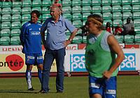 Trener Jan Jönsson, Stabæk og sportslig leder Tom Schjelvan, Stabæk. Tippeligaen 2006: Stabæk - Hamkam 4-0. 16. juli 2006. (Foto: Peter Tubaas/Digitalsport)