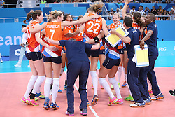 20150619 AZE: 1ste European Games Baku Servie - Nederland, Bakoe<br /> Nederland verslaat Servie met 3-2 / Nederland viert feest na de 3-2 overwinning
