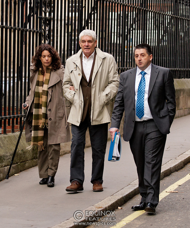 London, United Kingdom - 28 November 2011.Former British Army intelligence office Ian Hurst who went by the alias Martin Ingram. Witnesses arrive for hearings for the Leveson Inquiry into allegations of phone hacking by the media. Royal Courts of Justice, Charing Cross, London, England, UK..Copyright: ©2011 Equinox Licensing Ltd. +448700 780000 - Contact: Equinox Features - Date Taken: 20111128 - Time Taken: 122700+0000 - www.newspics.com