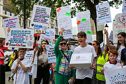 © Licensed to London News Pictures. 30/05/2019. London, UK. Hundreds of children, their families and supporters demonstrates outside Downing Street for Send National Crisis, protesting about a crisis in education for young people with special educational needs. Photo credit: Dinendra Haria/LNP