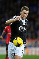 Southampton's Rickie Lambert in action.Barclays Premier league, Cardiff city v Southampton at the Cardiff city Stadium in Cardiff,  South Wales on Boxing day, Thursday 26th Dec 2013. <br /> pic by Andrew Orchard, Andrew Orchard sports photography.