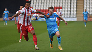 Cheltenham Town's George Lloyd during the EFL Sky Bet League 2 match between Stevenage and Cheltenham Town at the Lamex Stadium, Stevenage, England on 20 April 2021.