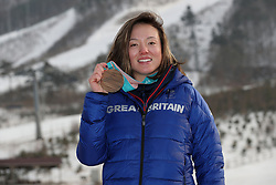 Great Britain's Isabel Atkin with her bronze medal for the Women's Ski Slopestyle event during a photocall on day nine of the PyeongChang 2018 Winter Olympic Games in South Korea.
