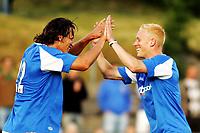 Fotball, treningskamp, Egersund, <br />Birmingham City FC - EIK, (2-0),<br />Njazi Kuqi - Mikael Forssell,<br />Foto: Sigbjørn Andreas Hofsmo, Digitalsport