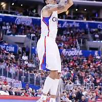 15 April 2014: Los Angeles Clippers forward Matt Barnes (22) takes a jump shot during the Los Angeles Clippers 117-105 victory over the Denver Nuggets at the Staples Center, Los Angeles, California, USA.