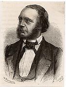 Louis Francois Clement Breguet (1804-1883) French pioneer of electric telegraphy.  Engraving from 'Les Merveilles de la Science' by Louis Figuier (Paris, c1870).