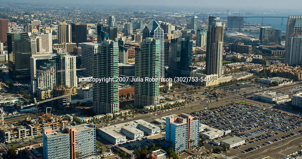 Aerial view of Downtown San Diego, California