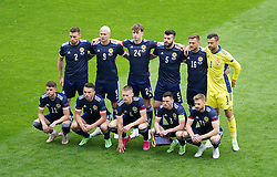 Scotland line up before the UEFA Euro 2020 Group D match at Hampden Park, Glasgow. Picture date: Monday June 14, 2021.