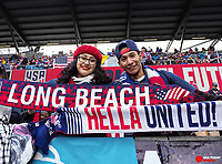 Feb 2, 2019; San Jose, CA, USA; United States fans before the game against Costa Rica during an international friendly at Avaya Stadium. Mandatory Credit: Kelley L Cox-USA TODAY Sports