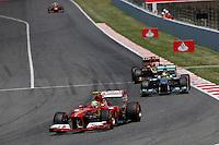 MOTORSPORT - F1 2013 - GRAND PRIX OF SPAIN / GRAND PRIX D'ESPAGNE - BARCELONA (ESP) - 10 TO 12/05/2013 - PHOTO : JEAN MICHEL LE MEUR / DPPI - MASSA FELIPE (BRA) - FERRARI F138 - ACTION