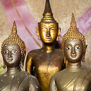 Gold statues at a Chinese temple in Thon Buri neighbourhood of Bangkok