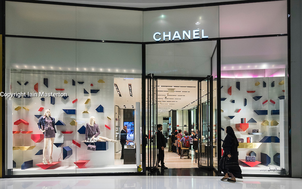 Chanel fashion shop in Dubai Mall Dubai United Arab Emirates