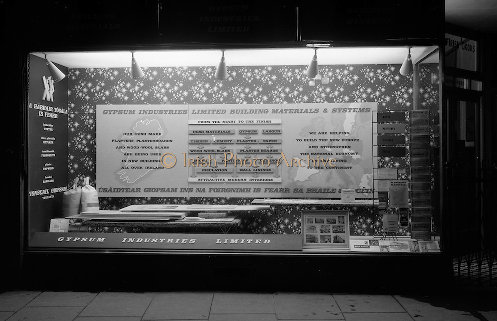 12/02/1963<br /> 02/12/1963<br /> 12 February 1963<br /> N.A.I.D.A. (National Agricultural and Industrial Development Association) window display for Gypsum Industries Ltd. at St Stephens Green, Dublin.