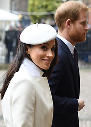 Members of The Royal Family attend the Commonwealth Day Observance Service at Westminster Abbey, London, UK, on the 12th March 2018. 12 Mar 2018 Pictured: Meghan Markle, Prince Harry. Photo credit: James Whatling / MEGA TheMegaAgency.com +1 888 505 6342