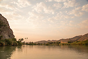 Trees beside the water, Kunene Region, Northern Namibia, Southern Africa